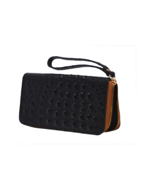 Martina Wallet & Wrist-let Black/Saddle